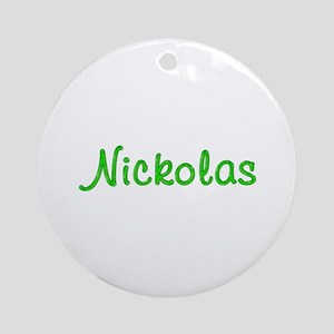 Nickolas Glitter Gel Round Ornament