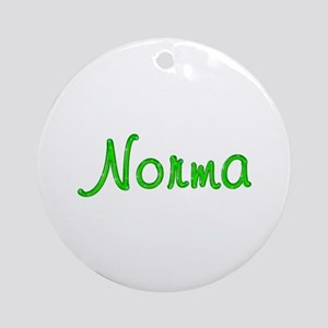 Norma Glitter Gel Round Ornament