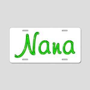 Nana Glitter Gel Aluminum License Plate