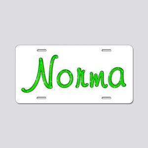 Norma Glitter Gel Aluminum License Plate