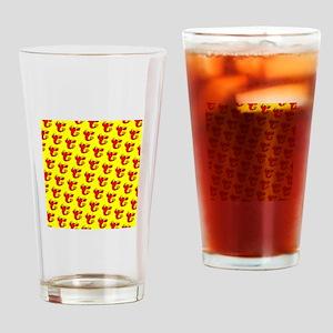 Red Lobster Lunacy Designer Drinking Glasses