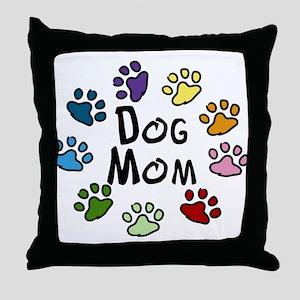 Dog Mom Throw Pillow