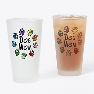 Dog Mom Drinking Glass