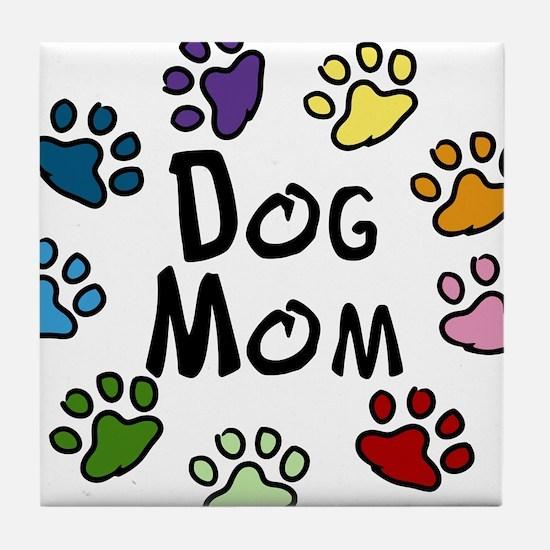 Dog Mom Tile Coaster