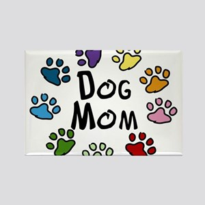 Dog Mom Rectangle Magnet