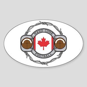 Canada Football Oval Sticker
