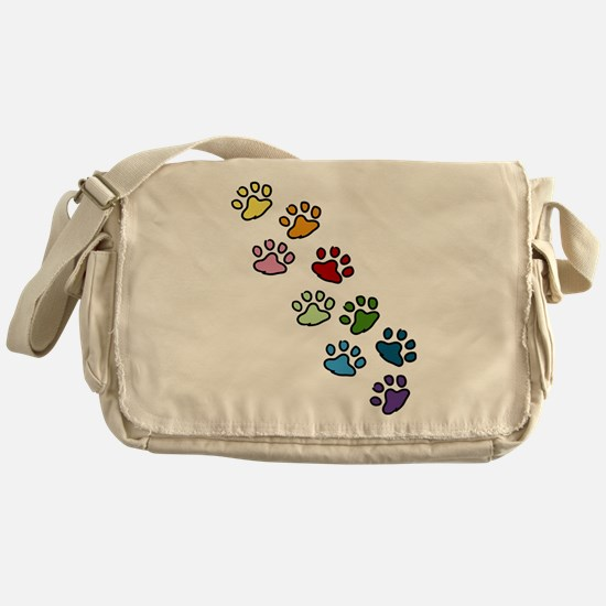 Paw Prints Messenger Bag