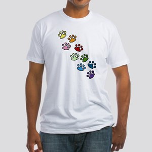 Paw Prints Fitted T-Shirt