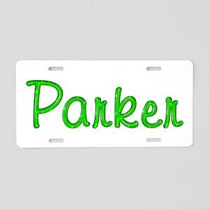Parker Glitter Gel Aluminum License Plate