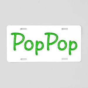 PopPop Glitter Gel Aluminum License Plate