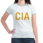 CIA CIA CIA Jr. Ringer T-Shirt