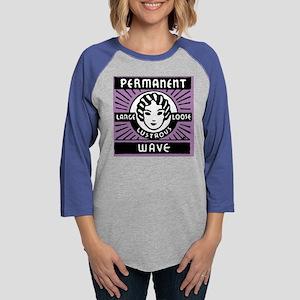 PermanentWavePillowPurp Womens Baseball Tee