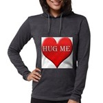 hugme-heart.jpg Womens Hooded Shirt