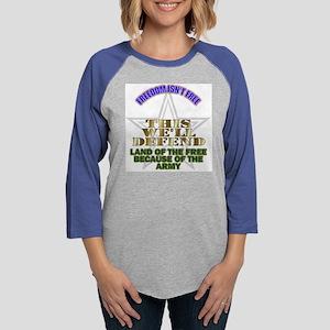 armylandofthefree Womens Baseball Tee