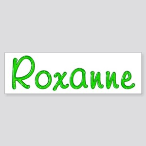 Roxanne Glitter Gel Bumper Sticker
