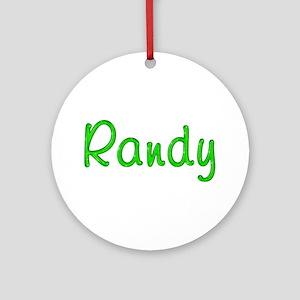 Randy Glitter Gel Round Ornament