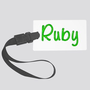 Ruby Glitter Gel Large Luggage Tag