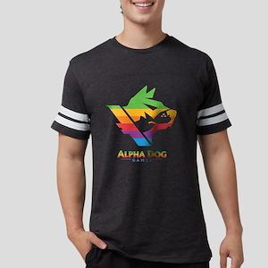 Alpha Dog Games Color Bars Log Mens Football Shirt