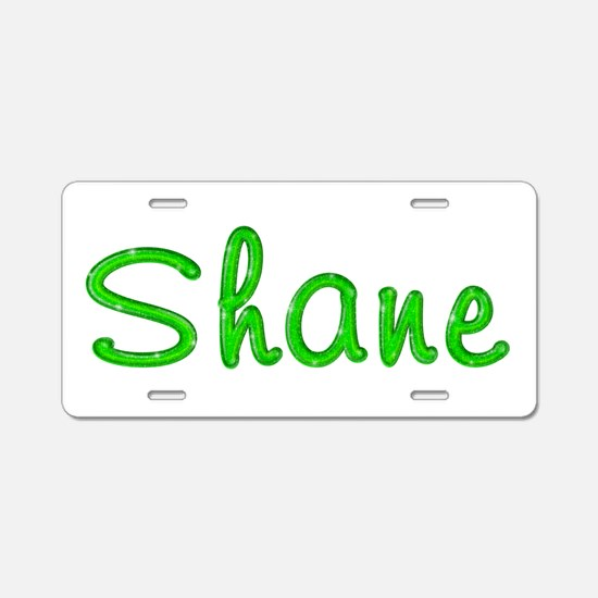 Shane Glitter Gel Aluminum License Plate