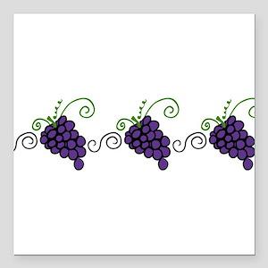 "Napa Valley Grapes Square Car Magnet 3"" x 3"""