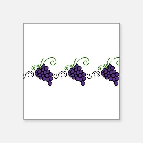 """Napa Valley Grapes Square Sticker 3"""" x 3"""""""