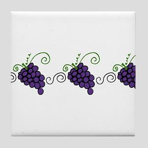 Napa Valley Grapes Tile Coaster
