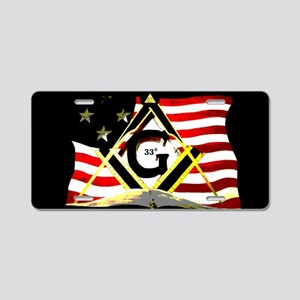 Masonic 33rd American Aluminum License Plate