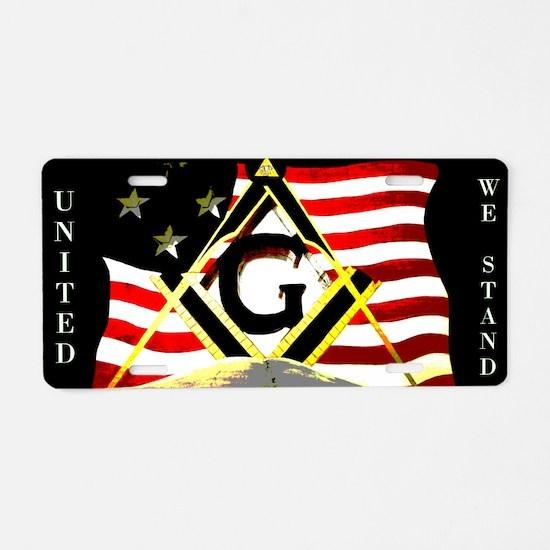 American United Masonic Aluminum License Plate