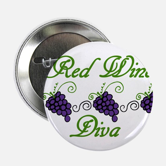 "Red Wine Diva 2.25"" Button"