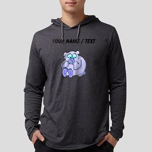 Custom Scared Bear Mens Hooded Shirt