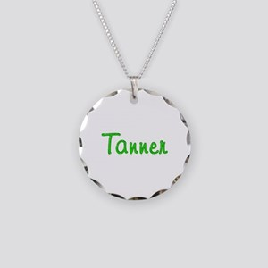 Tanner Glitter Gel Necklace Circle Charm