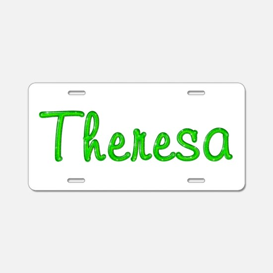 Theresa Glitter Gel Aluminum License Plate