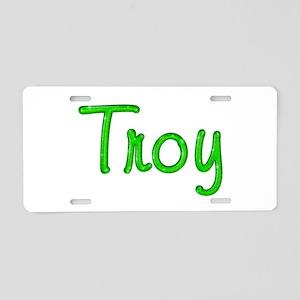 Troy Glitter Gel Aluminum License Plate