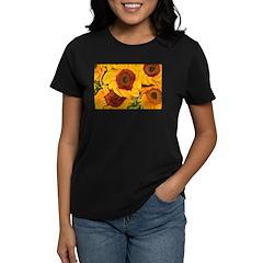 Liquid Sunflowers Women's Dark T-Shirt