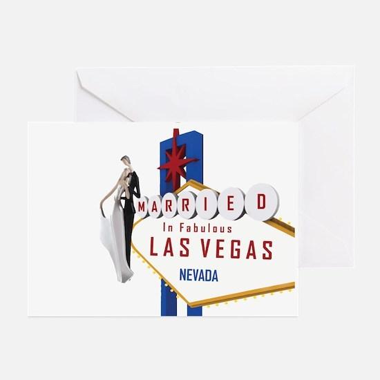 Married In Las Vegas Greeting Cards (Pk of 20)