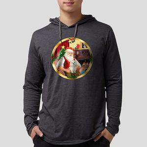 W-Santa1-Maltese11 Mens Hooded Shirt