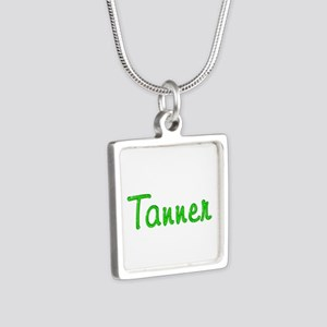 Tanner Glitter Gel Silver Square Necklace