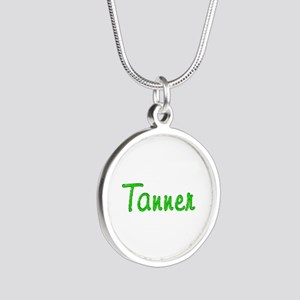 Tanner Glitter Gel Silver Round Necklace
