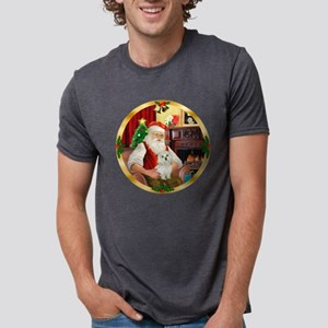 W-Santa1-Maltese11 Mens Tri-blend T-Shirt