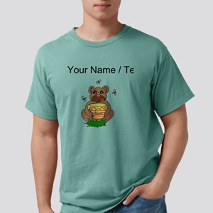 Custom Bear And Honey Mens Comfort Colors Shirt