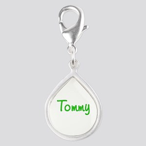 Tommy Glitter Gel Silver Teardrop Charm