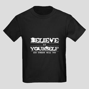 Believe in Yourself V2 Kids Dark T-Shirt