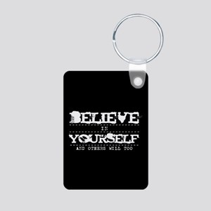 Believe in Yourself V2 Aluminum Photo Keychain