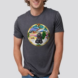 W-XmasMagic-Cocker-Blk Mens Tri-blend T-Shirt