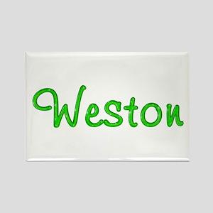 Weston Glitter Gel Rectangle Magnet