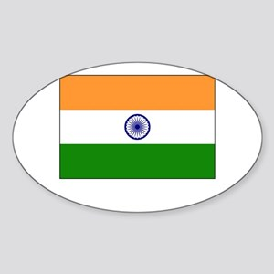 India Flag Picture Oval Sticker