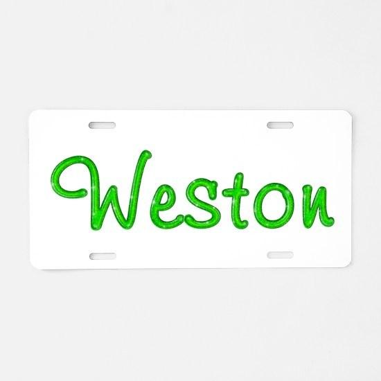 Weston Glitter Gel Aluminum License Plate