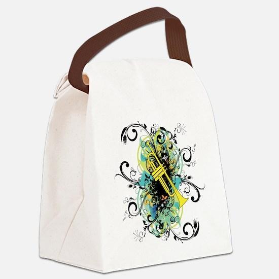 Swirl Trumpet Canvas Lunch Bag