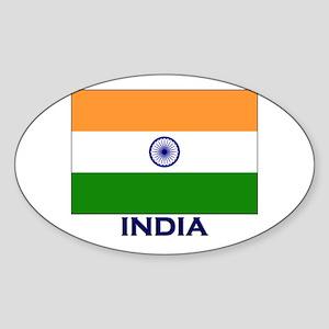 India Flag Stuff Oval Sticker