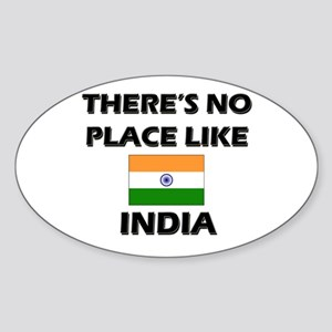 There Is No Place Like India Oval Sticker